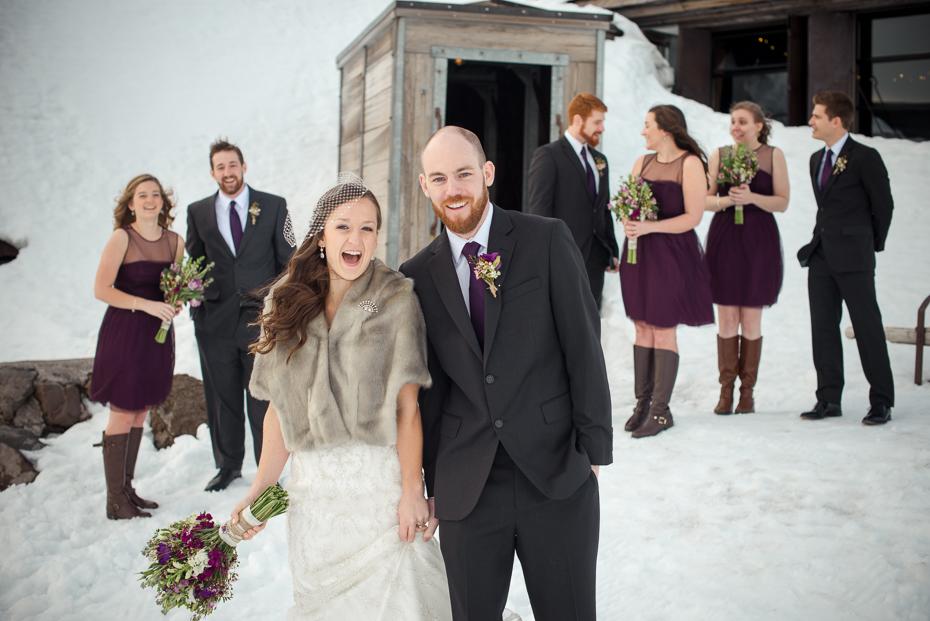 silcox hut mount hood wedding