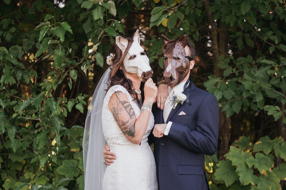 085 mount hood organic farms wedding with masks